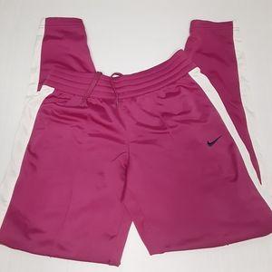 Nike track pants fuchsia/white size L